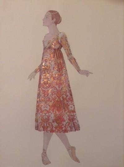 Juliet sketch by Roberta Guidi Di Bagno - Houston Ballet