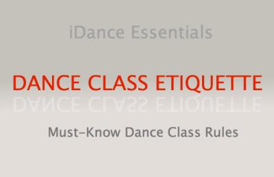 Dance Class Etiquette Essentials