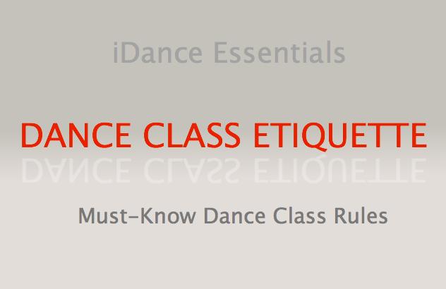 Dance Class Etiquette