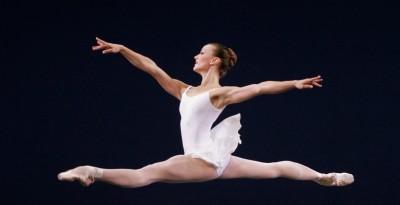 "Kathi Martuza leaping in ""Concerto Barocco"""