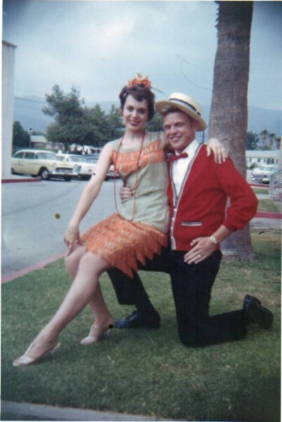 Cherie dressed to dance the Charleston in high school