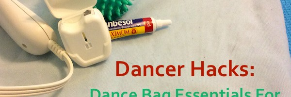 Heating pad, Anbesol, Dental floss, and a ball - essential dancer hacks!