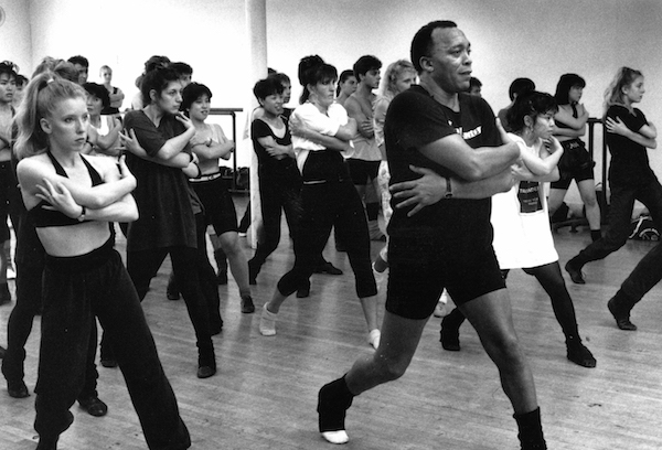 Photo by Michael S. Gordon courtesy of The Republican –– 8/13/1990-Frank Hatchett shows how it is done in one of his dance clases on Broadway in New York City.