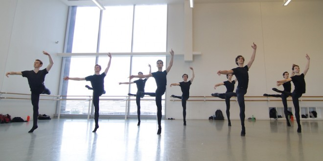 Male dancers at Houston Ballet's Summer Intensive