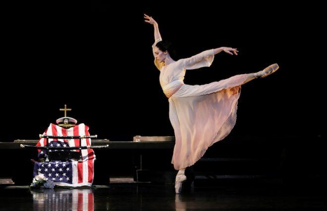 Sara Webb as Cio-Cio San in Stanton Welch's Madame Butterfly, photo by Amitav Sardar courtesy of Houston Ballet.