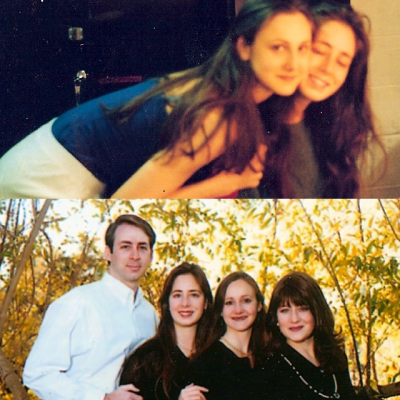 Photos courtesy Zippora Karz. Top: Zippora and Romy, Bottom: Karz siblings
