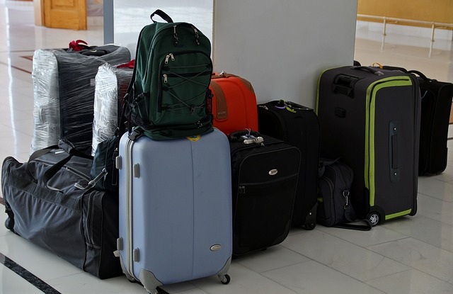 Pile of suitcases ready for travel
