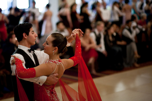 Ballroom dancers at competition