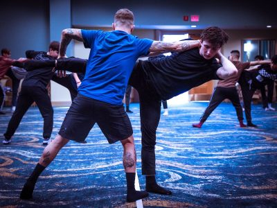Kieran Macdonald in class at NUVO Dance Convention. Photo by Mati Ficara.
