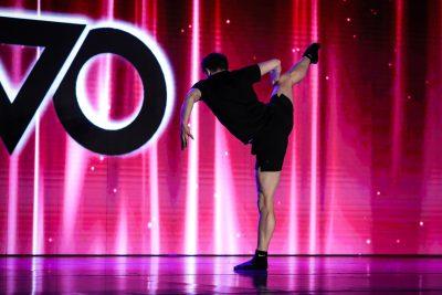 Kieran Macdonald performing at NUVO Dance Convention. Photo by Mati Ficara.
